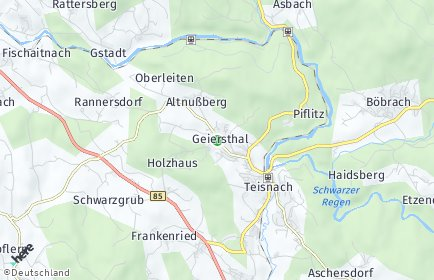 Stadtplan Geiersthal