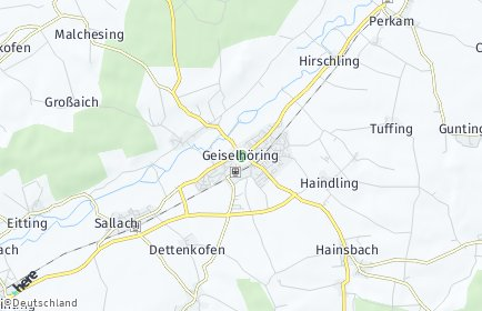 Stadtplan Geiselhöring