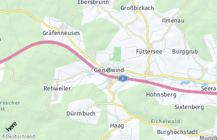 Stadtplan Geiselwind