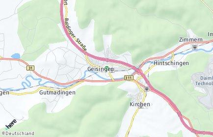 Stadtplan Geisingen