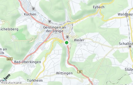 Stadtplan Geislingen an der Steige