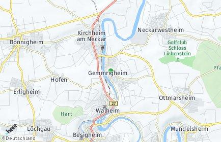 Stadtplan Gemmrigheim