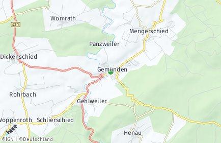 Stadtplan Gemünden (Hunsrück)