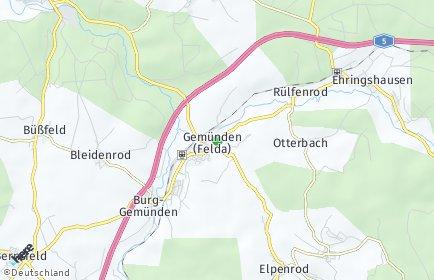Stadtplan Gemünden (Felda)