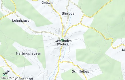 Stadtplan Gemünden (Wohra)