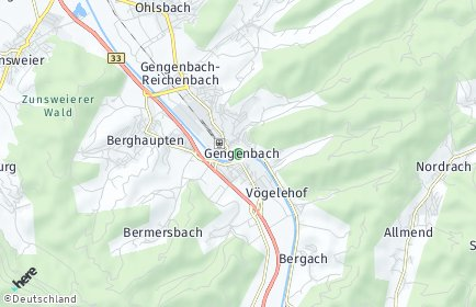 Stadtplan Gengenbach
