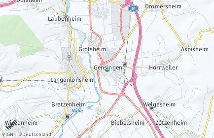 Stadtplan Gensingen