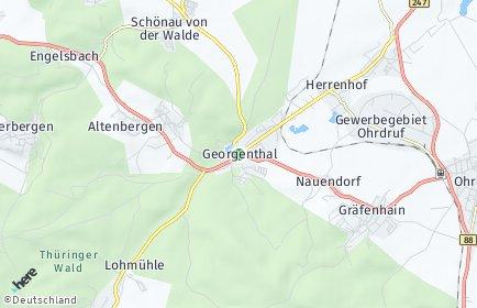 Stadtplan Georgenthal