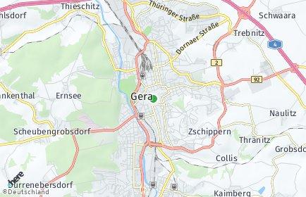 Stadtplan Gera OT Lietzsch