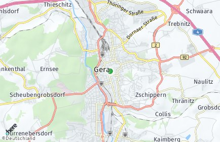 Stadtplan Gera OT Kaimberg