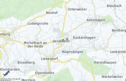 Stadtplan Gerabronn