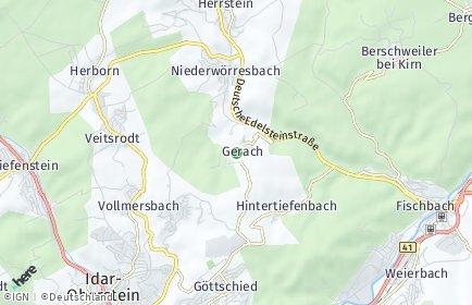 Stadtplan Gerach bei Idar-Oberstein