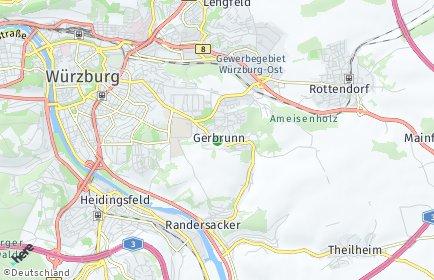 Stadtplan Gerbrunn