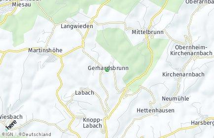 Stadtplan Gerhardsbrunn OT Gerhardsbrunn