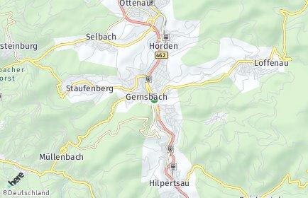 Stadtplan Gernsbach