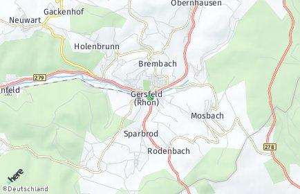 Stadtplan Gersfeld (Rhön)