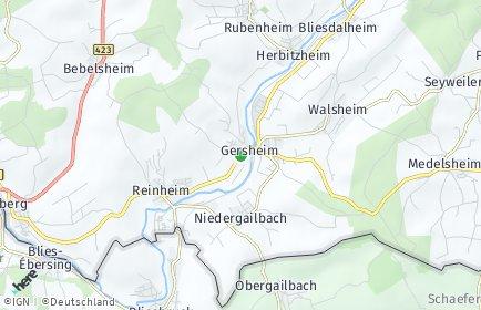 Stadtplan Gersheim