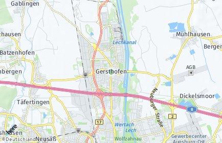 Stadtplan Gersthofen