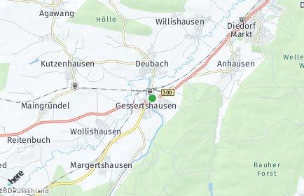 Stadtplan Gessertshausen OT Deubach