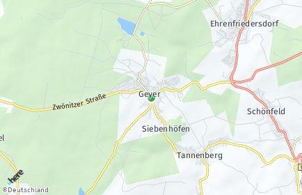 Stadtplan Geyer