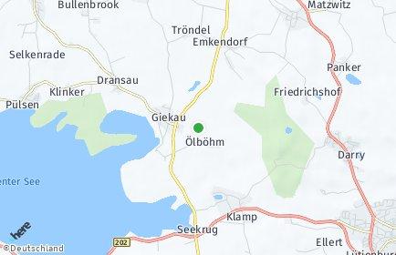 Stadtplan Giekau OT Dransau