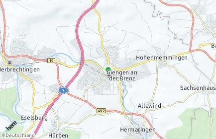 Stadtplan Giengen an der Brenz