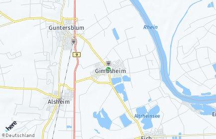 Stadtplan Gimbsheim
