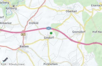 Stadtplan Gindorf