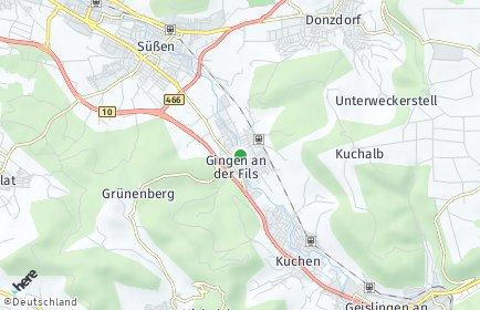Stadtplan Gingen an der Fils