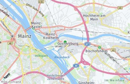 Stadtplan Ginsheim-Gustavsburg