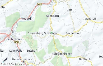 Stadtplan Ginsweiler