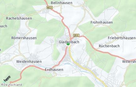 Stadtplan Gladenbach
