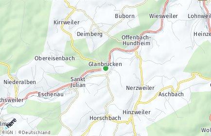 Stadtplan Glanbrücken