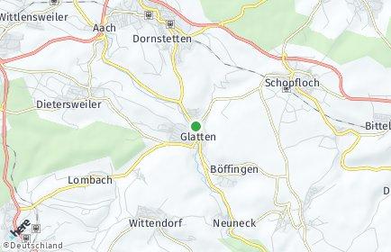 Stadtplan Glatten