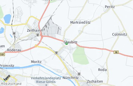 Stadtplan Glaubitz