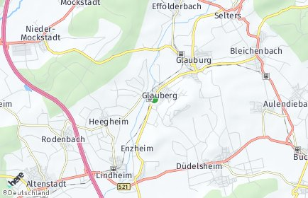Stadtplan Glauburg