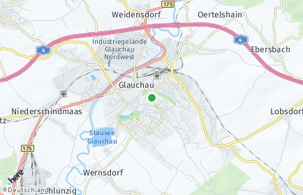 Stadtplan Glauchau