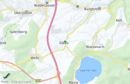 Stadtplan Glees