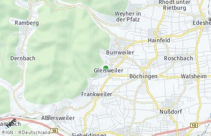Stadtplan Gleisweiler