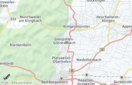 Stadtplan Gleiszellen-Gleishorbach