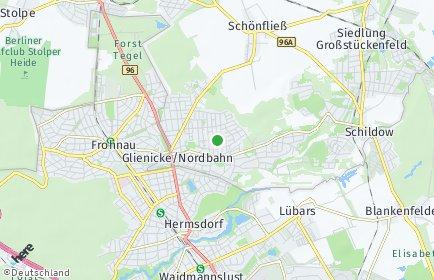 Stadtplan Glienicke/Nordbahn