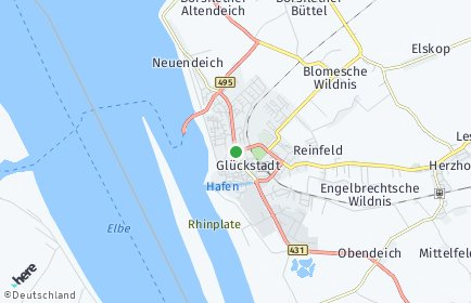 Stadtplan Glückstadt
