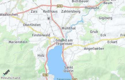 Stadtplan Gmund am Tegernsee