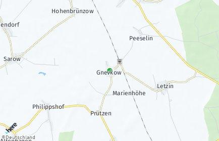 Stadtplan Gnevkow