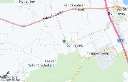 Stadtplan Gönnebek