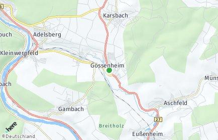 Stadtplan Gössenheim