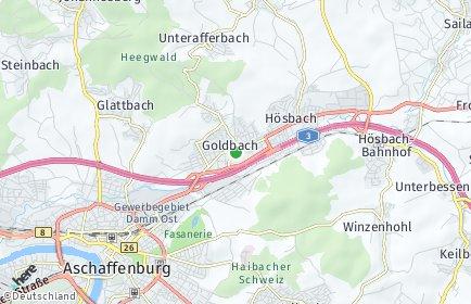 Stadtplan Goldbach (Unterfranken)