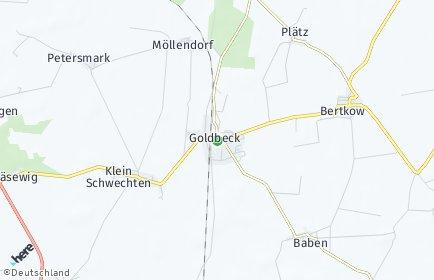 Stadtplan Goldbeck (Altmark)