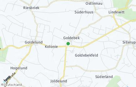 Stadtplan Goldebek