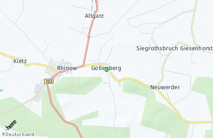 Stadtplan Gollenberg (Havelland)